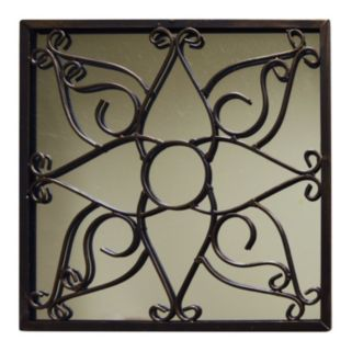 New View Metal Scroll Square Wall Mirror