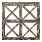 New View Antiqued Window Pane Wall Mirror