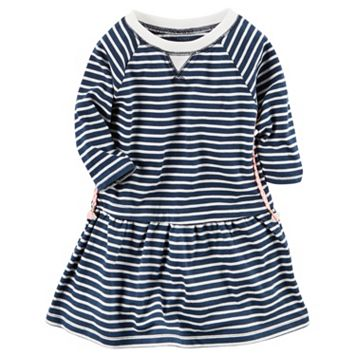 Baby Girl Carter's Long Sleeve Striped Knit Dress
