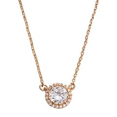 LC Lauren Conrad Simulated Crystal Halo Necklace