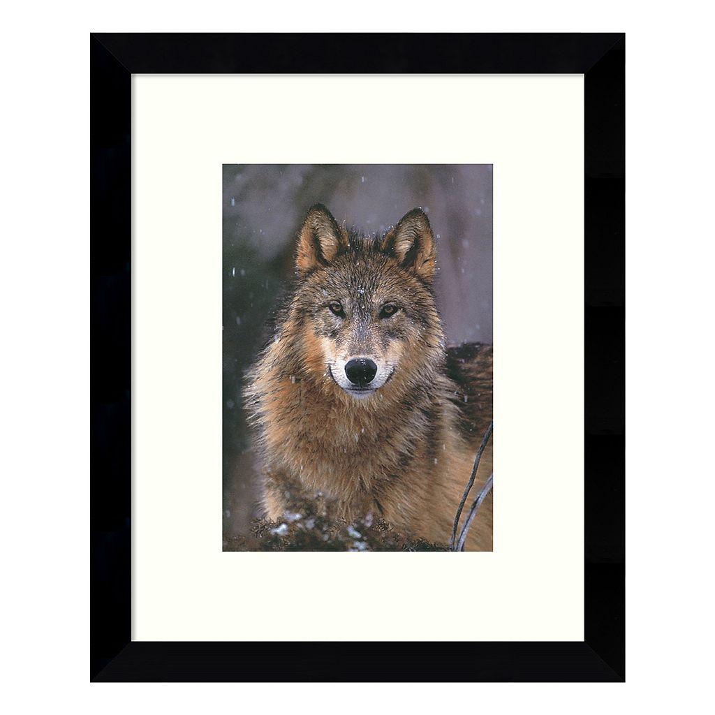 Woodland Pride Montana Wolf Framed Wall Art