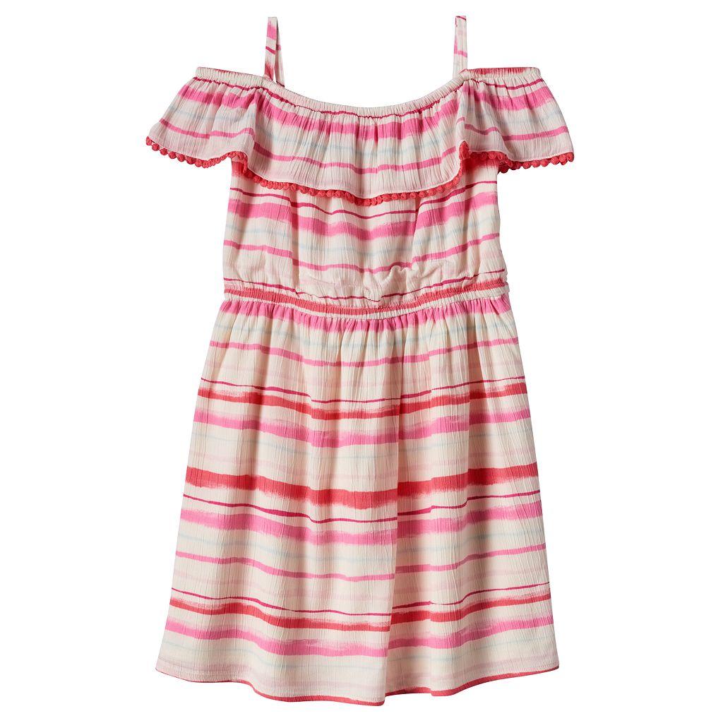 Girls 4-8 SONOMA Goods for Life™ Striped Ruffle Dress