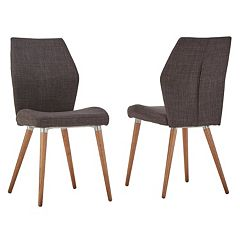 HomeVance Lindholm Scandinavian Angled Dining Chair 2-piece Set