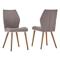HomeVance Lindholm Scandinavian Angled Dining Chair 2 pc Set