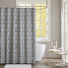 Madison Park Sierra Jacquard Shower Curtain