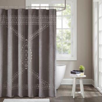 Madison Park Riley Laser Cut Shower Curtain