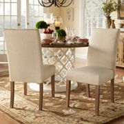 HomeVance Grace Hill Parson Dining Chair 2 pc Set