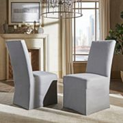 HomeVance Grace Hill Parson Slipcover Dining Chair 2 pc Set