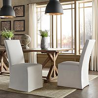 HomeVance Grace Hill Parson Slipcover Dining Chair 2-piece Set