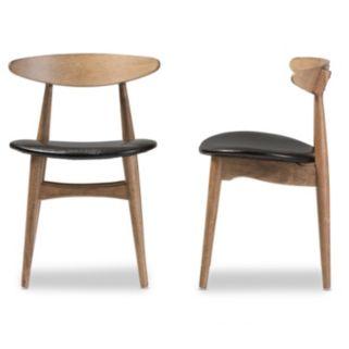 Baxton Studio Edna Mid-Century Dining Chair 2-piece Set