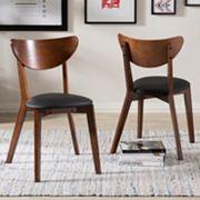 Baxton Studio Sumner Mid-Century Dining Chair 2 pc Set