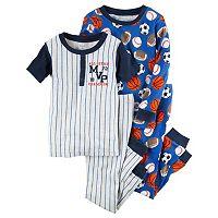 Toddler Boy Carter's Sporty Tee & Pants Pajama Set