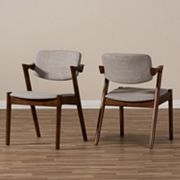 Baxton Studio Mid-Century Arm Dining Chair 2 pc Set