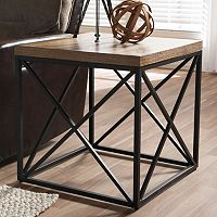 Baxton Studio Holden Industrial End Table