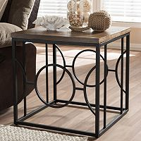 Baxton Studio Palmer Industrial End Table