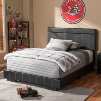 Baxton Studio Solo Faux Leather Full Platform Bed