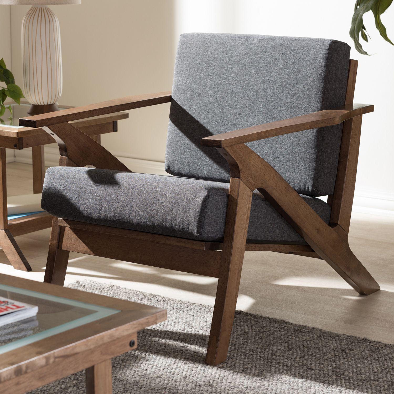 Baxton Studio Cayla Mid Century Modern Arm Chair