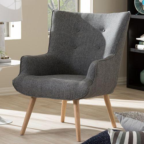 Baxton Studio Nola Mid-Century Arm Chair