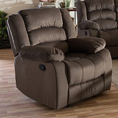 Baxton Studio Hollace Recliner Arm Chair
