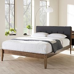 Baxton Studio Leyton Queen Platform Bed