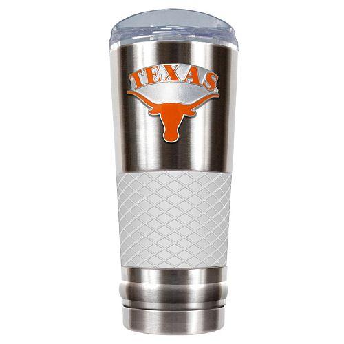 Texas Longhorns 24-Ounce Draft Stainless Steel Tumbler