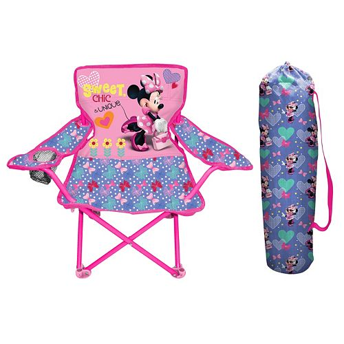 Wondrous Disneys Minnie Mouse Fold N Go Chair Evergreenethics Interior Chair Design Evergreenethicsorg
