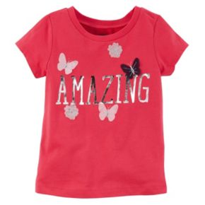 "Baby Girl Carter's ""Amazing"" Foil Graphic Tee"