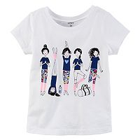Baby Girl Carter's Short Sleeve Yoga Girl Graphic Tee