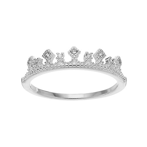 LC Lauren Conrad Cubic Zirconia Tiara Ring