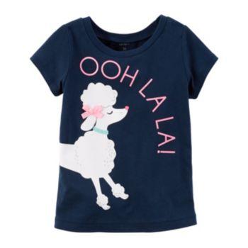 """Baby Girl Carter's """"Ooh La La!"""" Poodle Tee"""