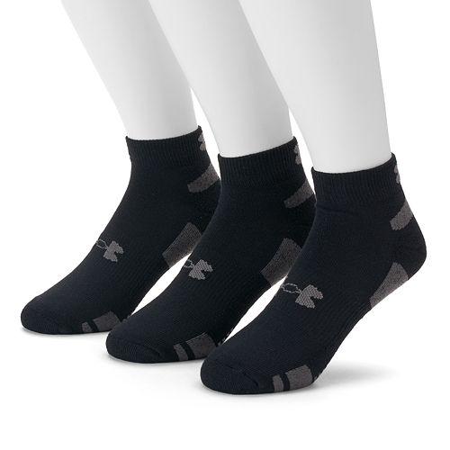 Men's Under Armour 3-pack Heatgear Performance Training Low-Cut Socks
