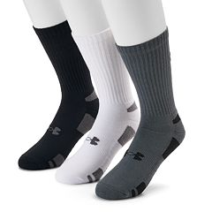 Men's Under Armour 3-pack Heatgear Performance Training Crew Socks