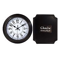 Wall Clock & Chalk Board Wall Decor 2-piece Set