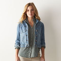 Women's SONOMA Goods for Life™ Crosshatch Jean Jacket