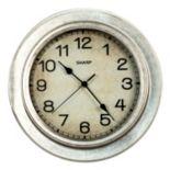 Sharp Galvanized Finish Wall Clock