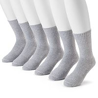 Men's Under Armour 6-pack Charged Cotton 2.0 Performance Crew Socks