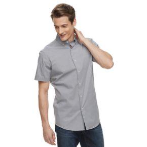 Men's Apt. 9® Slim-Fit Stretch Button-Down Collar Dress Shirt