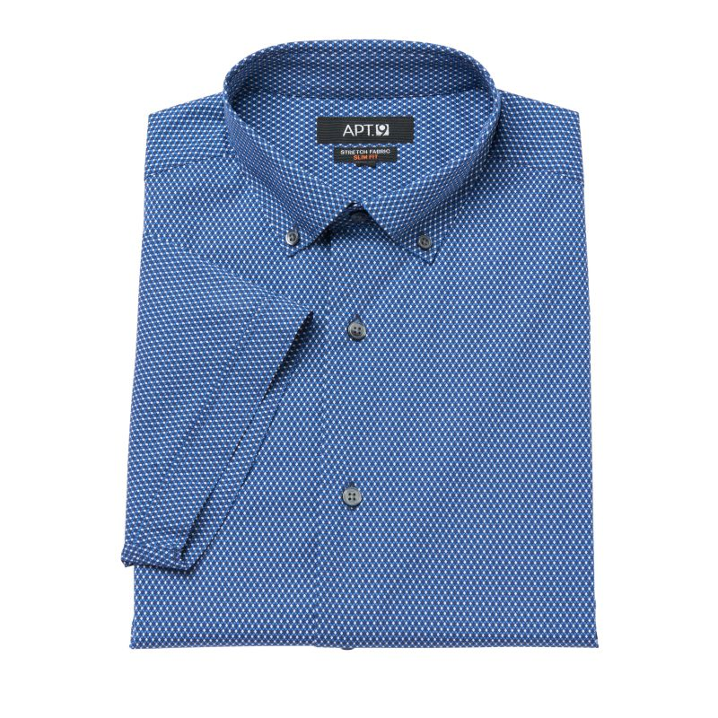 ... Slim-Fit Stretch Button-Down Collar Dress Shirt, Size: L 16.5-17, Blue