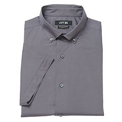 Men's Apt. 9® Slim-Fit Stretch Button-Down Collar Short-Sleeved Dress Shirt