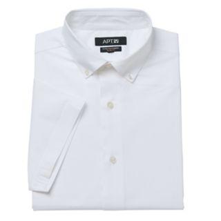 Men's Apt. 9® Slim-Fit Stretch Button-Down Collar Short-Sleeved Dress Shirt
