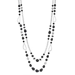 Long Beaded Double Strand Necklace