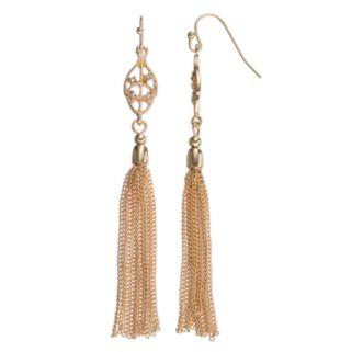 LC Lauren Conrad Tassel Leaf Drop Earrings