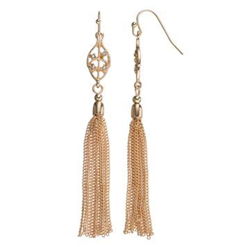 LC Lauren Conrad Tassel Leaf Drop Earrings