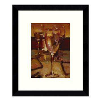 Wine Glasses Paris Framed Wall Art