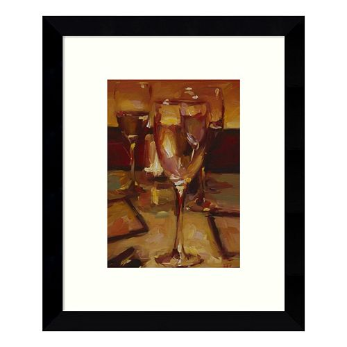 Wine Glasses Paris Framed Wall Art