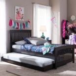 Baxton Studio Hevea Twin Platform Bed & Trundle