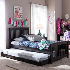 Baxton Studio Hevea Twin Platform Bed & Trundle by