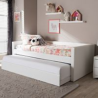 Baxton Studio Risom Faux Leather Twin Daybed Bed & Trundle