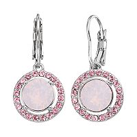 Brilliance Halo Drop Earrings with Swarovski Crystals