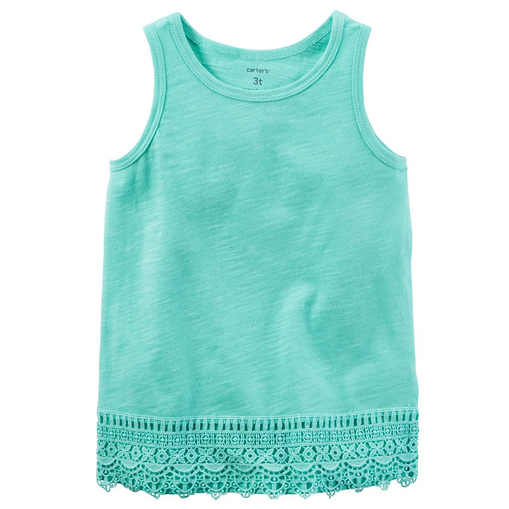 Baby Girl Carter's Slubbed Crochet Tank Top